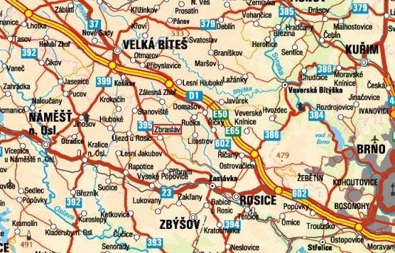 Mapa Zbraslavn